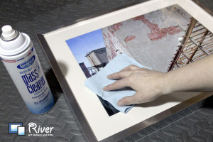 River Art Gallery - Cleaning Glass in Frames